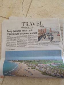 Women's Motorcycle Tours Newspaper Clipping